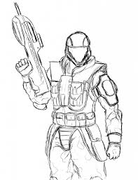 halo odst coloring pages budget meals pinterest