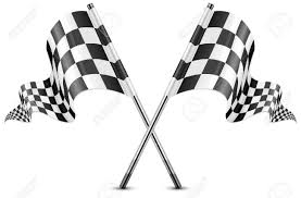 Checkered Flag Eps Two Crossed Checkered Flags Isolated On White Vector Illustration