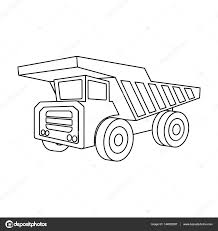 yellow dump truck with black wheels the vehicle used for