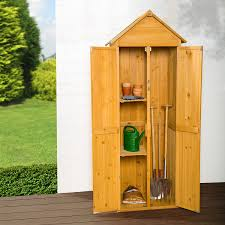 armadi in legno per esterni tectake armadio da esterno in legno casetta per gli attrezzi