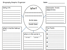 writing a biography graphic organizer organize 2nd grade biography research