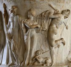 borghese florero detalle dioniso ariadna y el baile de mármol