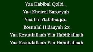 Ya Habibal Qolbi 10 5 Mb Lagu Lirik Yaa Habibal Qolbi Pujaan Hati