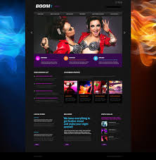 website template 53472 boom night club custom website template