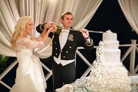 wedding cake cutting cake cutting with navy sword elizabeth designs the wedding