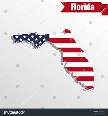 Florida State Map by Florida State Map Us Flag Inside Stock Vector 421475947 Shutterstock
