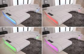 couch u form wohnlandschaft stoff sofa eckcouch concept u form designersofa led