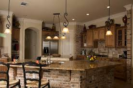 Cover Kitchen Cabinets 20 Beautiful Brick And Stone Kitchen Island Designs Fake Brick