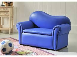 fauteuil canapé enfant canapé pour enfant en simili bleu arthur