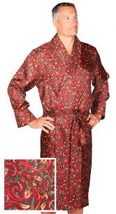 robe de chambre soie robe de chambre en soie paisley bourgogne vert or homme