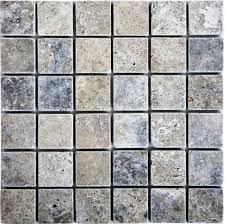 epoch tile si2x2 2x2 tumbled travertine silver ceramic floor