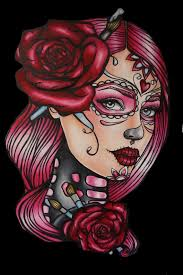 pin up tattoo art lowbrow gothic art 16 by 20 canvas print of