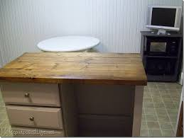 Repurposed Kitchen Island Ideas Kitchen Island Made From Desk My Repurposed