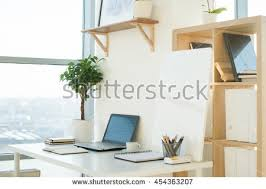 Interior Design Notebook by Side View Picture Studio Workplace Blank Stock Photo 539619922