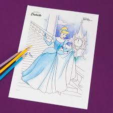 cinderella coloring disney family