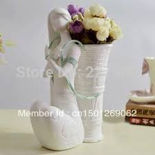 unique flower vase beautiful flower basket ceramic white