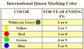 international queen bee marking colors u2014 piedmont beekeepers