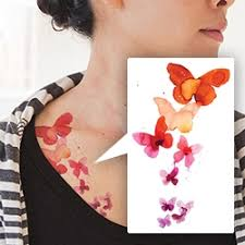 tattly s watercolor butterfly temporary tattoos with designs by