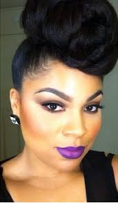 black hair buns 13 hottest black updo hairstyles classy makeup and black women