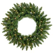 lighted christmas wreath decorations lighted christmas wreath with simple pine needles