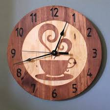 themed wall clock coffee themed wall clocks coffee wall clock