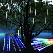 led meteor shower tube lights 144 240 led meteor shower rain tree lights waterproof tube string