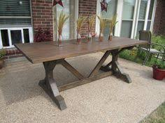 Ana White Farmhouse Table Bench Directions For Farmhouse Table With Legs In The Center Rather Than