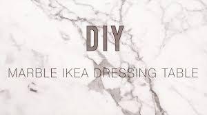Ikea Malm Vanity Table Diy Marble Ikea Malm Dressing Table Youtube