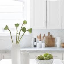 Subway Kitchen Backsplash White And Gray Herringbone Marble Kitchen Backsplash Tiles Design