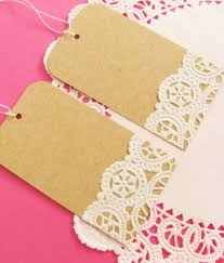 on sale vintage doilies gift tags set of by ilovedielinestudio
