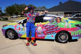 glitter car clown car aaa big top entertainment a clown co