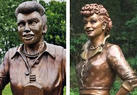 lucille ball new lucille ball statue replaces scary lucy after outrage time