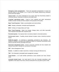 sample travel policy template 9 free documents download in word