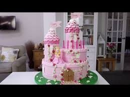castle cakes how to make a princess castle cake part 1