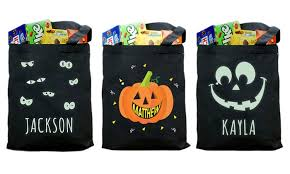 personalized trick or treat bags personalized trick or treat bags from giftsforyounow