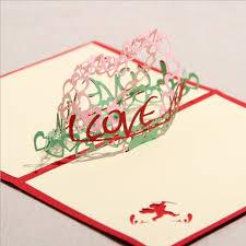 quality 3d three dimensional romantic handmade diy birthday gift