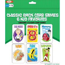 kid s classic card 6 pack family card by ideal