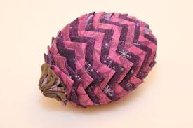 folded fabric pinecones thriftyfun