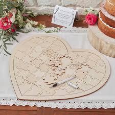 guest book alternative wooden heart jigsaw guest book alternative by