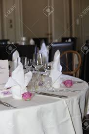 Wedding Table Setting Wedding Table Settings With A Single Perfect Rose In Each Place