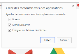 raccourci bureau gmail windows gmail résolu windows