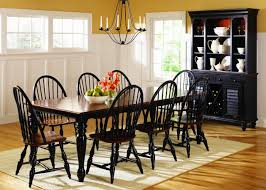 Casual Dining Room Tables by Black U0026 Cherry Two Tone Finish Casual Dining Table W Options