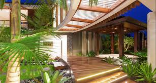 the idea of unique tropical style house house style design