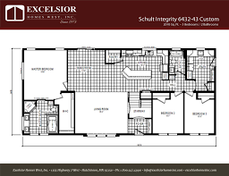 3 bedroom modular home floor plans schult integrity 6432 43 custom modular excelsior homes west inc