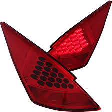 red nissan 350z anzo usa nissan 350z 03 05 l e d tail lights red