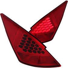 red nissan 350z anzo usa nissan 350z 03 05 l e d tail lights red