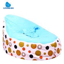 levmoon medium brown circle print bean bag chair kids bed for