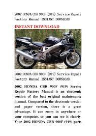2002 honda cbr 900 f 919 service repair factory manual instant down u2026