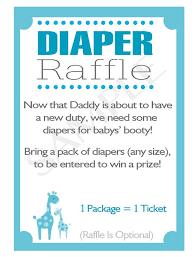 raffle baby shower printable diy blue safari baby shower raffle invitation