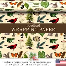 custom wrapping paper woodland wrapping paper custom woodland gift wrap paper 9